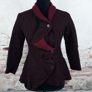 Anthropologie Rosie Neira Wool Ruffle Jacket